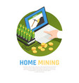 home mining farm background vector image vector image