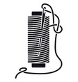 icon sewing thread on spools isolated coil vector image vector image