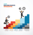 Infographic Template step building blocks vector image vector image