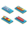 isometric water transport set vector image