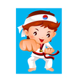kick of martial artist vector image vector image