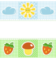 Lace border with summer icons vector | Price: 1 Credit (USD $1)