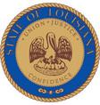 Louisiana Seal vector image vector image