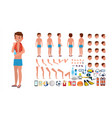 man in swimsuit animated male character in vector image vector image
