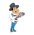 man with digital camera vector image vector image
