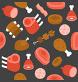 meat butchery theme seamless pattern for wrapping vector image vector image