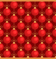 merry christmas tree toy ball red seamless pattern vector image