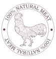 Natural meat stamp with cock vector image vector image
