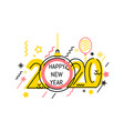 new year emblem 2020 number design vector image
