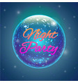 night party banner vector image