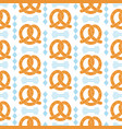 oktoberfest seamless pattern with pretzel vector image