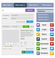 Online shop flat design elements set2 vector image vector image