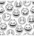 positive smiling faces background emoticons vector image vector image