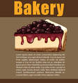 Poster design with blueberry cheesecake vector image