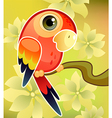 red parrot vector image