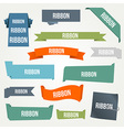 Ribbon and banner set vector image vector image