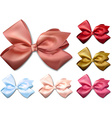 Satin color ribbons Gift bows vector image vector image