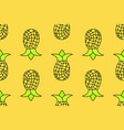 seamless pattern of yellow pineapple seamless vector image