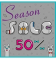 Season Sale Fifty percents vector image