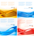 set colorful backgrounds with abstract elements vector image vector image