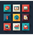 Set of blog icons in flat design style vector image