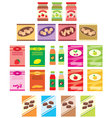 Set of packings of products vector image vector image