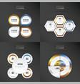 set of presentation design gold bronze silver vector image vector image