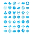 set of various geometrical abstract icons signs vector image vector image