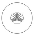 shell black icon in circle outline vector image