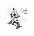 strong workouts gym icon vector image vector image