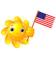 Summer Sun with American flag vector image vector image
