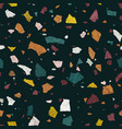terrazzo seamless pattern vector image