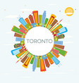 toronto skyline with color buildings blue sky and vector image vector image