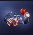 usa flag day background vector image