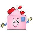 valentine envelope theme image 1 vector image