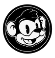 Vintage cartoon Smiling retro cartoon monkey vector image