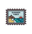 vintage summer vibes logo adventure emblem design vector image vector image