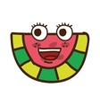 watermelon character isolated icon design vector image