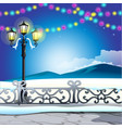 winter sketch on the background of snowy hills and vector image vector image