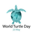 world turtle day concept vector image vector image