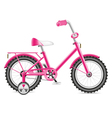 kids bicycle for a girl vector image