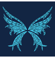 l abstract of butterfly Retro butterfly design vector image
