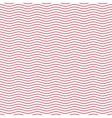 Red seamless wavy line pattern vector image