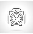 Alarm clock flat line icon vector image