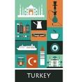 Symbols of Turkey vector image