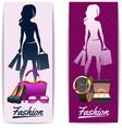 Women shopping vertical banners vector image