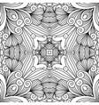 decorative zentangle swirl pattern vector image