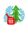 logo Christmas winter landscape vector image