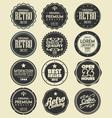 set of retro labels badges vector image