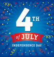4 july independence day usa card vector image